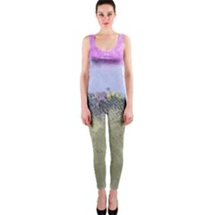 Abstract Garden in Pastel Colors OnePiece Catsuits