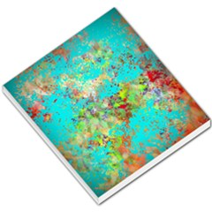 Abstract Garden In Aqua Small Memo Pads