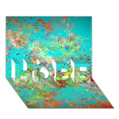 Abstract Garden In Aqua Hope 3d Greeting Card (7x5)