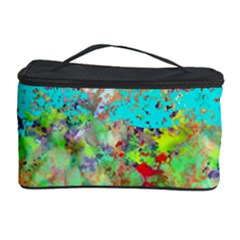 Abstract Garden in Aqua Cosmetic Storage Cases