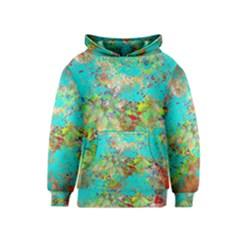 Abstract Garden in Aqua Kid s Pullover Hoodies