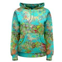 Abstract Garden In Aqua Women s Pullover Hoodies