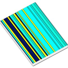 Hot Stripes Aqua Large Memo Pads