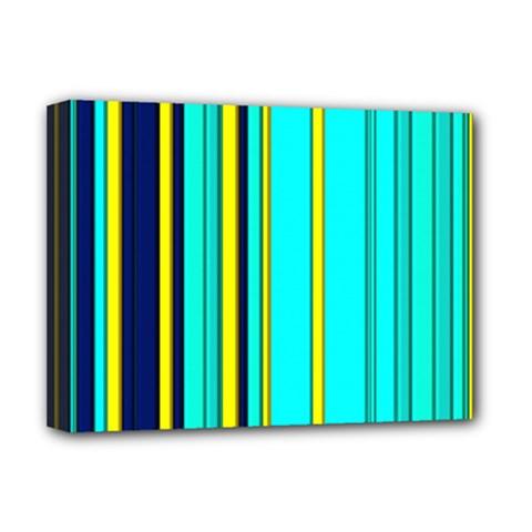 Hot Stripes Aqua Deluxe Canvas 16  X 12
