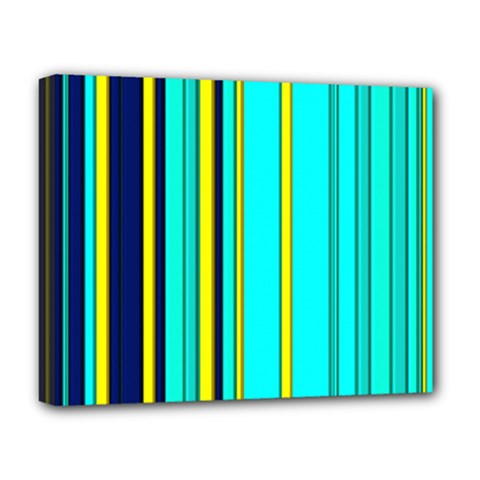 Hot Stripes Aqua Deluxe Canvas 20  X 16
