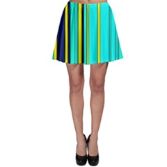 Hot Stripes Aqua Skater Skirts