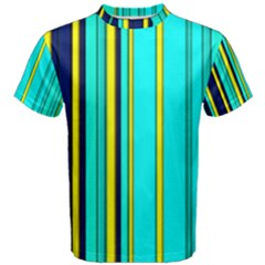Hot Stripes Aqua Men s Cotton Tees