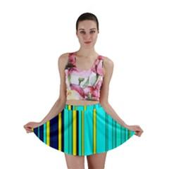 Hot Stripes Aqua Mini Skirts