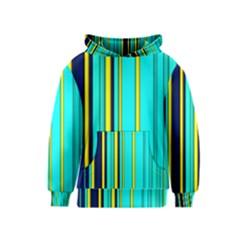 Hot Stripes Aqua Kid s Pullover Hoodies