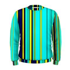 Hot Stripes Aqua Men s Sweatshirts