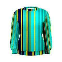 Hot Stripes Aqua Women s Sweatshirts