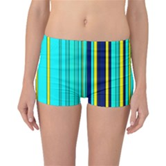 Hot Stripes Aqua Boyleg Bikini Bottoms