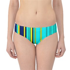 Hot Stripes Aqua Hipster Bikini Bottoms