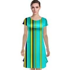 Hot Stripes Aqua Cap Sleeve Nightdresses