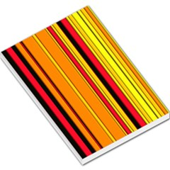 Hot Stripes Fire Large Memo Pads