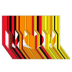 Hot Stripes Fire Mom 3d Greeting Card (8x4)
