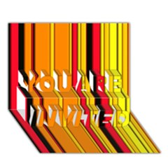 Hot Stripes Fire YOU ARE INVITED 3D Greeting Card (7x5)