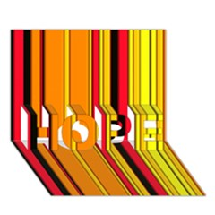 Hot Stripes Fire HOPE 3D Greeting Card (7x5)