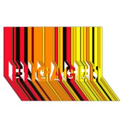 Hot Stripes Fire Engaged 3d Greeting Card (8x4)