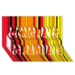 Hot Stripes Fire Congrats Graduate 3D Greeting Card (8x4)