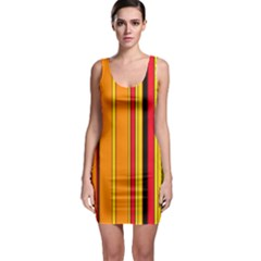 Hot Stripes Fire Bodycon Dresses