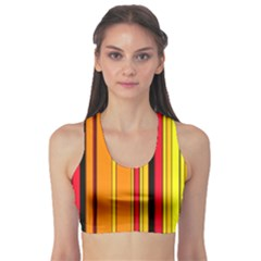 Hot Stripes Fire Sports Bra