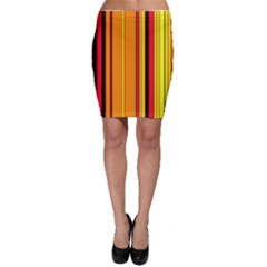 Hot Stripes Fire Bodycon Skirts