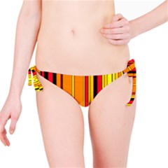 Hot Stripes Fire Bikini Bottoms