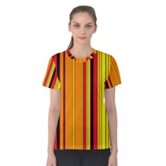 Hot Stripes Fire Women s Cotton Tees