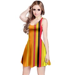 Hot Stripes Fire Reversible Sleeveless Dresses