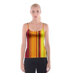 Hot Stripes Fire Spaghetti Strap Tops