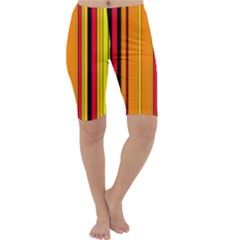 Hot Stripes Fire Cropped Leggings