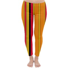 Hot Stripes Fire Winter Leggings