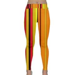 Hot Stripes Fire Yoga Leggings