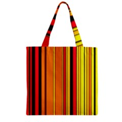 Hot Stripes Fire Zipper Grocery Tote Bags