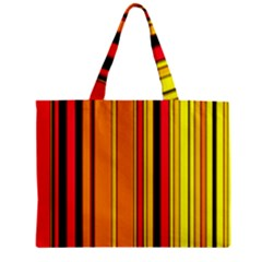 Hot Stripes Fire Zipper Tiny Tote Bags