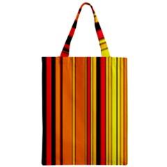 Hot Stripes Fire Zipper Classic Tote Bags