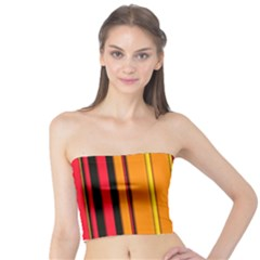Hot Stripes Fire Women s Tube Tops