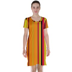 Hot Stripes Fire Short Sleeve Nightdresses