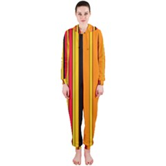 Hot Stripes Fire Hooded Jumpsuit (ladies)