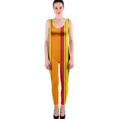 Hot Stripes Fire Onepiece Catsuits