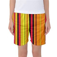 Hot Stripes Fire Women s Basketball Shorts