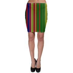 Hot Stripes Grenn Blue Bodycon Skirts