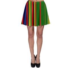 Hot Stripes Grenn Blue Skater Skirts