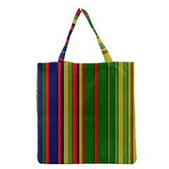 Hot Stripes Grenn Blue Grocery Tote Bags