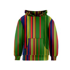 Hot Stripes Grenn Blue Kid s Pullover Hoodies