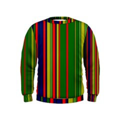 Hot Stripes Grenn Blue Boys  Sweatshirts
