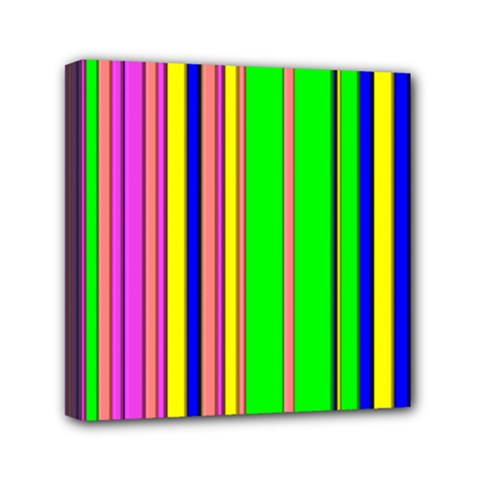 Hot Stripes Rainbow Mini Canvas 6  X 6