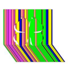 Hot Stripes Rainbow Clover 3D Greeting Card (7x5)