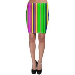 Hot Stripes Rainbow Bodycon Skirts